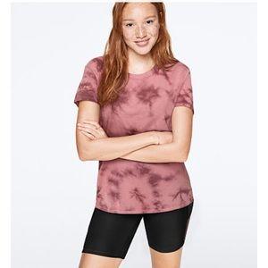 PINK PERFECT CREW TEE Smokey Rose Tie Dye size:L